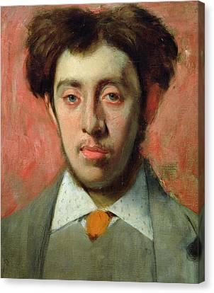 Degas Canvas Print - Portrait Of Albert Melida by Edgar Degas