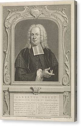 Portrait Of Albertus Voget, Pieter Tanjé Canvas Print by Quint Lox