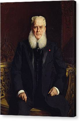 Portrait Of Alfred Chauchard 1821-1909 1896 Oil On Canvas Canvas Print by Constant