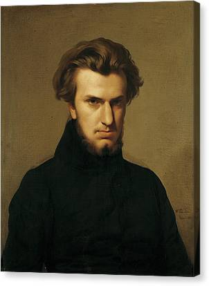 Portrait Of Ambroise Thomas 1811-96 1834 Oil On Canvas Canvas Print by Hippolyte Flandrin