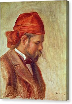 Portrait Of Ambroise Vollard 1868-1939 Oil On Panel Canvas Print by Pierre Auguste Renoir