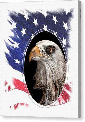 Portrait Of America Canvas Print by Tom Mc Nemar