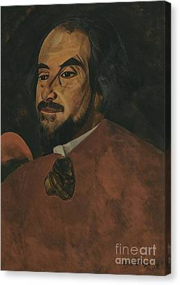 Portrait Of An Actor Said To Be Nikolai Alexandrov  Canvas Print by Celestial Images