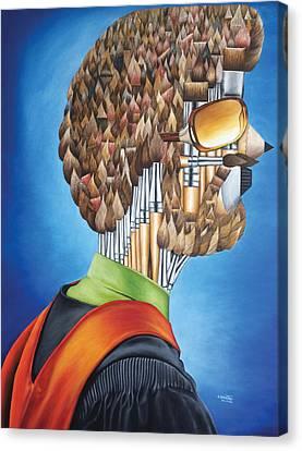 Portrait Of An Artist - Jim Meaders 1984 Canvas Print