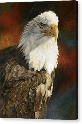 Portrait Of An Eagle Canvas Print by Lucie Bilodeau