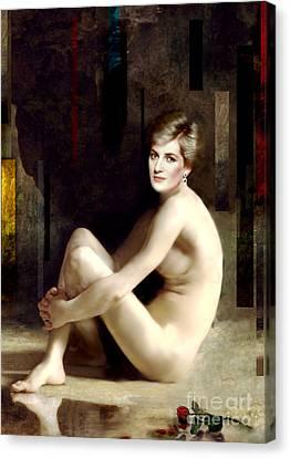 Portrait Of An English Rose Canvas Print by Karine Percheron-Daniels