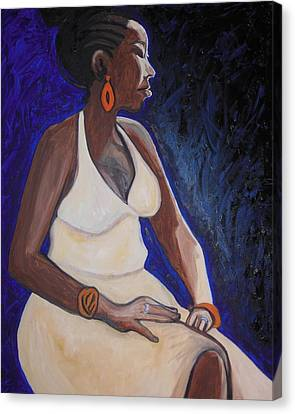 Portrait Of An Ethiopian Woman Canvas Print by Esther Newman-Cohen