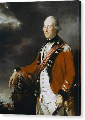 Portrait Of An Officer Of The 15th Canvas Print