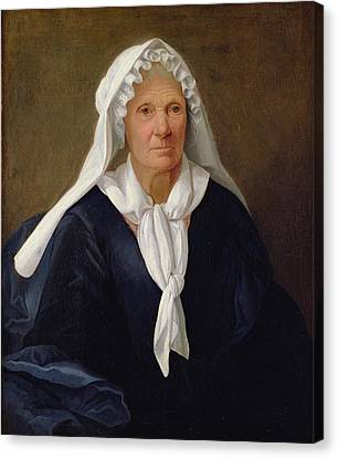 Portrait Of An Old Woman Canvas Print by French School