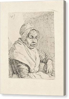 Portrait Of An Old Woman, Pieter Christoffel Wonder Canvas Print by Pieter Christoffel Wonder