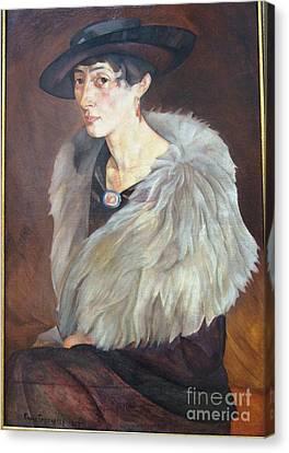 Portrait Of Anna Grilikhes Canvas Print by Celestial Images