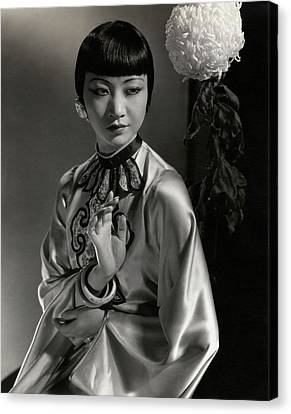 Chinese Ethnicity Canvas Print - Portrait Of Anna May Wong by Edward Steichen