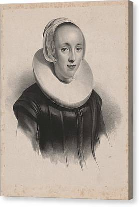 Portrait Of Anna Roemers Visscher, Anonymous Canvas Print by Anonymous