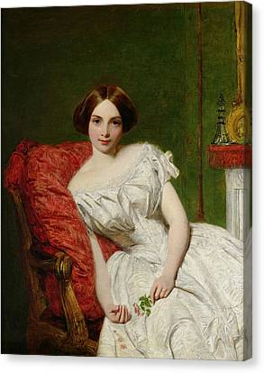 Youthful Canvas Print - Portrait Of Annie Gambart by William Powell Frith