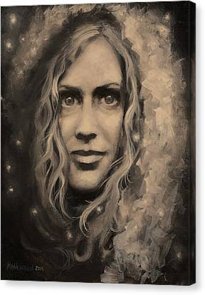 Portrait Of Annie Canvas Print
