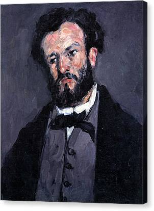 Portrait Of Antony Valabrgue By Cezanne Canvas Print by John Peter
