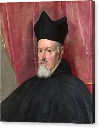 Portrait Of Archbishop Fernando De Valdes Canvas Print by Diego Velazquez