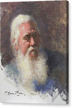 Portrait Of Artist Michael Mentler Canvas Print by Anna Rose Bain
