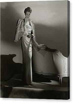 Portrait Of Barbara Cushing Canvas Print by Horst P. Horst