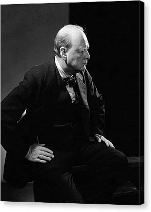 Portrait Of British Prime Minister Winston Canvas Print by Edward Steichen