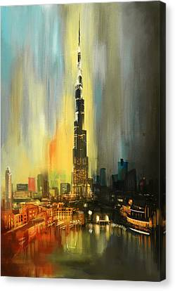 Portrait Of Burj Khalifa Canvas Print by Corporate Art Task Force