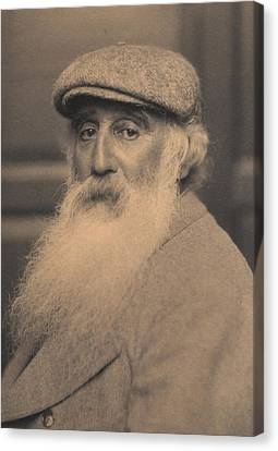 Portrait Of Camille Pissarro 1830-1903 Bw Photo Canvas Print by French School