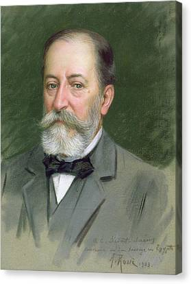 Portrait Of Camille Saint-saens Canvas Print by Alberto Rossi