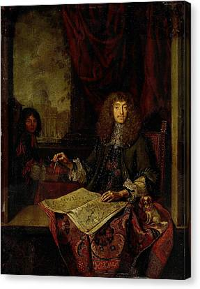 Portrait Of Carel Quina 1620-89, Knight Of The Holy Canvas Print by Litz Collection