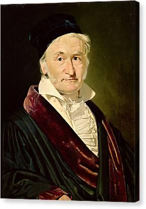 Portrait Of Carl Friedrich Gauss, 1840 Oil On Canvas Canvas Print by Christian-Albrecht Jensen