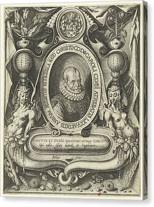 Family Crest Canvas Print - Portrait Of Carolus Clusius At The Age Of 75 by Jacob De Gheyn (ii)