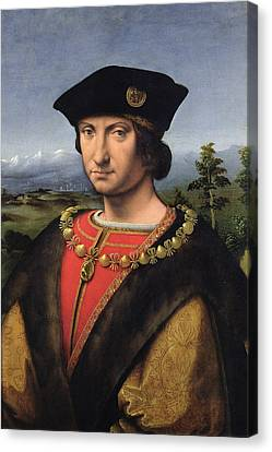 Portrait Of Charles Damboise 1471-1511 Marshal Of France Oil On Panel Canvas Print