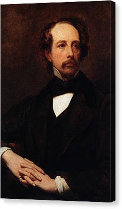 Portrait Of Charles Dickens Canvas Print