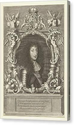 Portrait Of Charles Emmanuel II, Robert Nanteuil Canvas Print by Robert Nanteuil