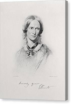 Portrait Of Charlotte Bronte, Engraved Canvas Print