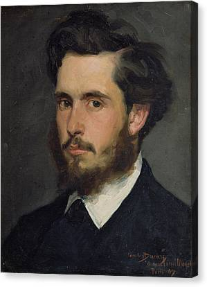 Impressionist Canvas Print - Portrait Of Claude Monet 1840-1926 1867 Oil On Canvas by Charles Emile Auguste Carolus-Duran