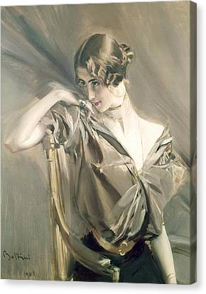 Portrait Of Cleo De Merode Canvas Print by Giovanni Boldini