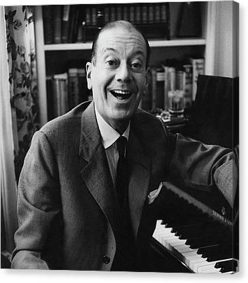 Portrait Of Cole Porter Sitting At His Piano Canvas Print