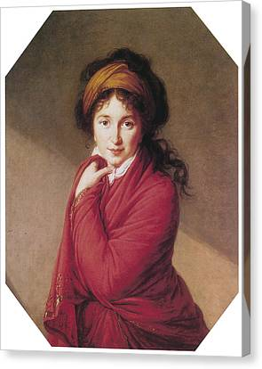Marie-louise Canvas Print - Portrait Of Countess Golovin by Marie Louise Elisabeth Vigee-Lebrun