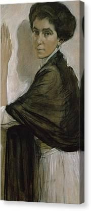 Portrait Of Countess Olsuphyev Canvas Print by Valentin Serov