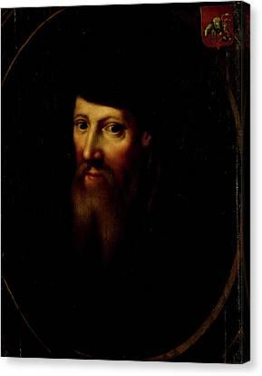 Portrait Of David Jorisz, Glass Painter In Delft Canvas Print by Litz Collection