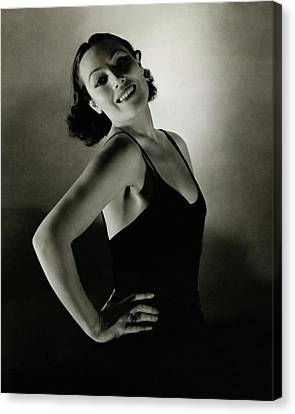 Portrait Of Dolores Del Rio Canvas Print by Edward Steichen
