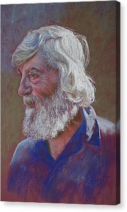 Portrait Of Doug Dale Canvas Print by Lynda Robinson