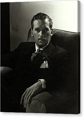 Portrait Of Douglas Fairbanks Jr Canvas Print by Horst P. Horst