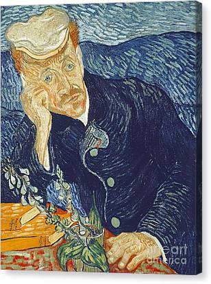 Portrait Of Dr Gachet Canvas Print by Vincent Van Gogh