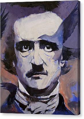 Black Artist Canvas Print - Edgar Allan Poe by Michael Creese