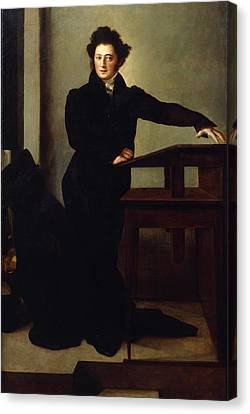 Portrait Of Eduard Gans 1829 Canvas Print by Wilhelm Hensel