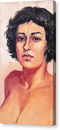 Portrait Of Elisa Canvas Print by Roz McQuillan