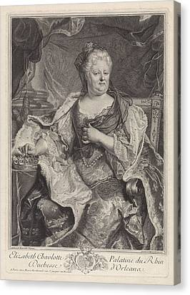 Portrait Of Elizabeth Charlotte Of The Palatinate Canvas Print