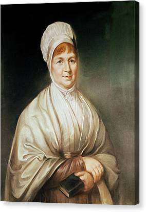 Portrait Of Elizabeth Fry 1780-1845 Canvas Print