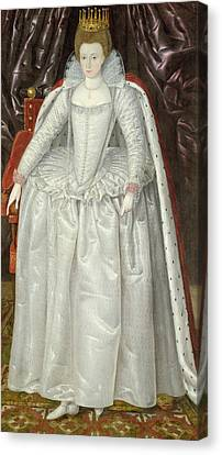 Portrait Of Elizabeth Vernon, Countess Canvas Print